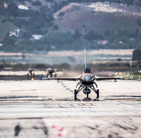Aviation Blue Sky Close-up F-16 Fighting Falcon Flight General Dynamics IAF Israeli Air Force Nature Runway Taxiing