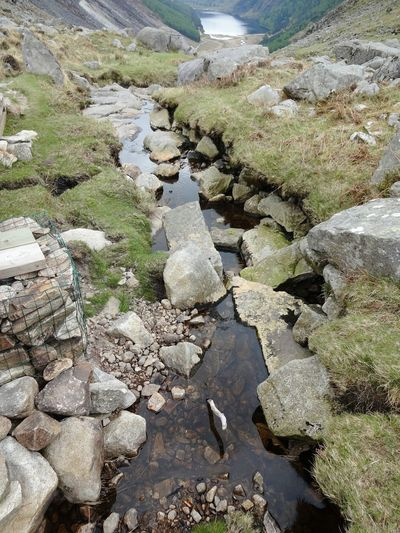 Nature Day Outdoors Tranquility No People Water Beauty In Nature High Angle View Scenics Perspective Panoramic View Wicklow Mountains  River Mountain View Bachlauf Stones Valley Tal Ireland Irland