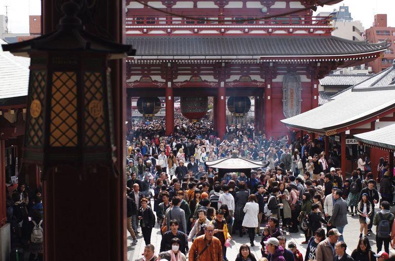 People traveling at asakusa kannon temple