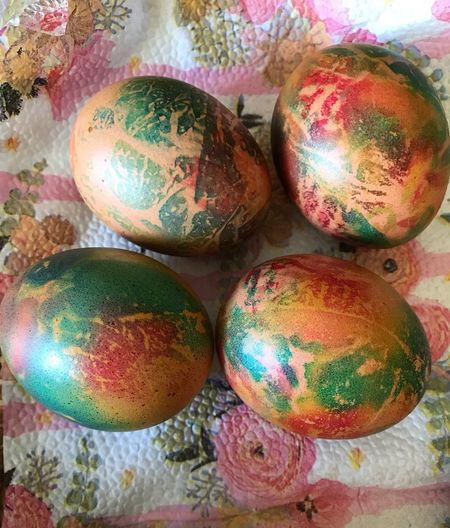 Multi Colored Easter Easter Egg Egg Still Life No People Indoors  Celebration Holiday Food High Angle View Close-up Food And Drink Group Of Objects Decoration Sphere