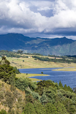 Sisga Dam; Cundinamarca, Colombia Beauty In Nature Cloud Day Filed Grass Landsape Mountain Nature No People Outdoors Rural Scene Scenics Sky Sky And Clouds Tranquil Scene Trees