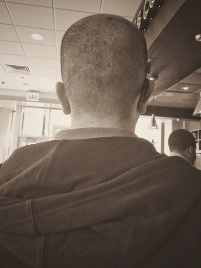 Back of neck series no. 1 Blackandwhite Black And White Black & White Chicago Waiting In Line Neck Portrait