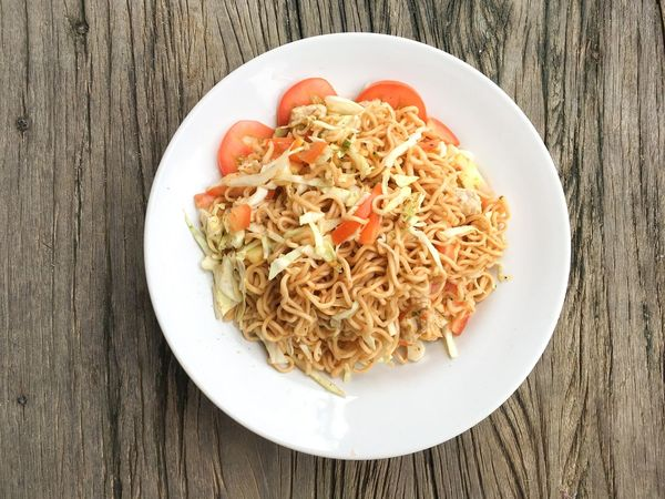 Cuisine Spicy Close-up Day Food Food And Drink Freshness Healthy Eating Indoors  No People Noodle Plate Ready-to-eat Serving Size Table Thailand Food Tomato Wood - Material