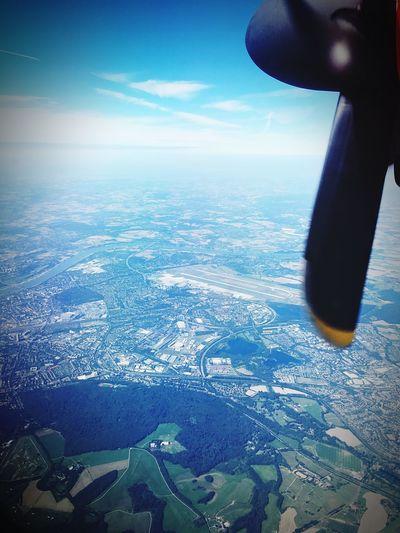 Dusseldorf Airport Aerial View Landscape Flying Airplane Transportation Airport Air Berlin Düsseldorf Landebahn Bombardier Runway
