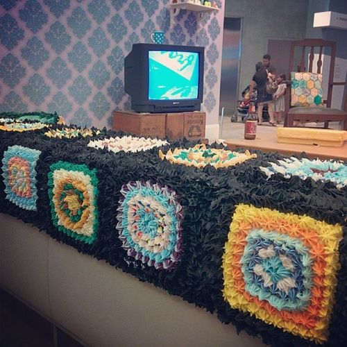 This blanket is made from cake icing. What. Melbournenow .