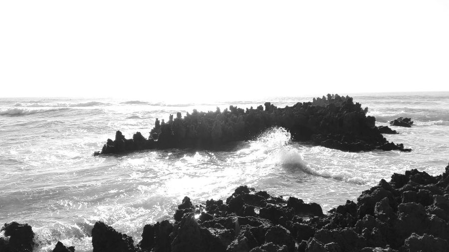 "Taking Photos Whats This? Ocean Beach Rocks And Water White And Black "" Praia Amoreira ,Aljesur pt."""