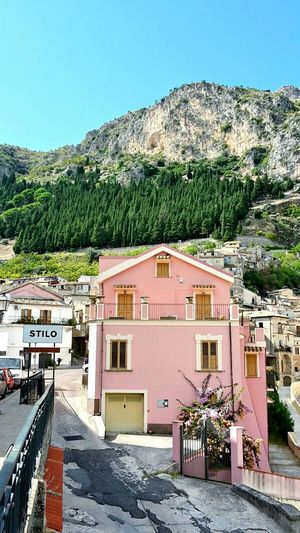 LadyphotographerofthemonthCalabria (Italy) Mountain View Stilo Pink! Beautiful Scenery Human Vs Nature Flower Collection Houses And Windows Houses Mountain Village