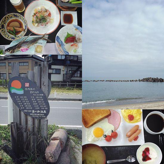 秋田山形日記 DAY 5 湯野浜ビーチコ 山形初日の夜ごはんは囲炉裏バイキングだったので、残り2日間は御膳にしました😁🍱✨ トビウオの塩焼き、初めて食べました🐟💨 秋田山形旅行も、5日目に突入😃 きょうも、たっぷり予定がつまってますよ〜😁👍🏼 ホテルの朝食はビュッフェなので、自由にもりもり食べました🌞😋🍽✨ 本日の予定、まずは湯野浜海岸でビーチコーミングです🌊🐚✨ 大好きな海で、貝殻やシーグラスなど海のカケラを拾って宝物を集めました☺️👏🏼👏🏼 朝から超汗だくになったけど、ビーチコは夢中になってしまいます。笑🐙💦 もりもり食べた朝食ビュッフェが、もう消化されたくらい。笑 時間を忘れるほど、ずっとビーチコしたかったけど、予定がつまってるので次の場所へ🚗💨 記念に、庄内浜の日の入り看板を撮りました🌊🌆📱✨ つづく。 秋田山形日記 山形 鶴岡市 庄内 庄内浜 湯野浜海岸 海 Sea ビーチコーミング ビーチコ ビュッフェ トビウオ 旅行記 旅行 旅