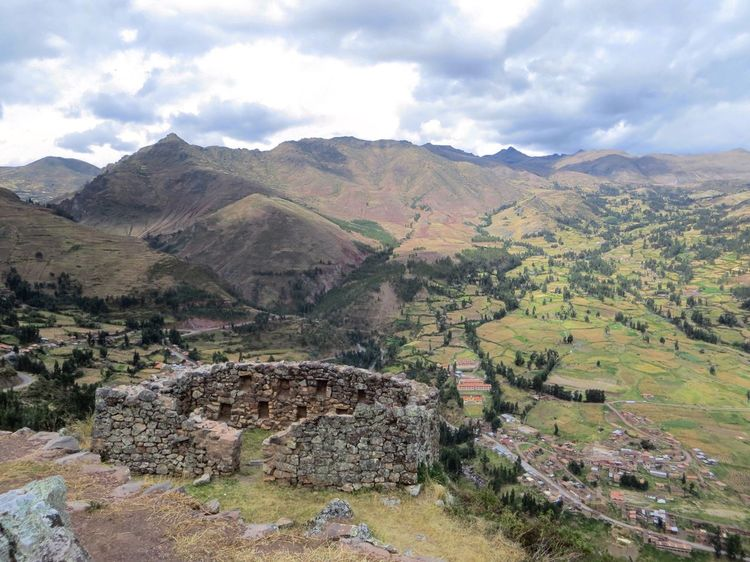 Landscape Mountain Sky Day Nature Cloud - Sky Outdoors No People Beauty In Nature History Old Ruin Scenics Mountain Range Tree Architecture Inca Ruins Peru Ancient Civilization Travel Destinations Agriculture Tranquility This Is Latin America