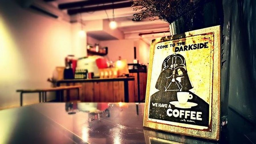 May the force of good coffee with you. Located at 749 north bridge road behind masjid sultan and beside motorworks the colonyCafe Singapore Wilderz