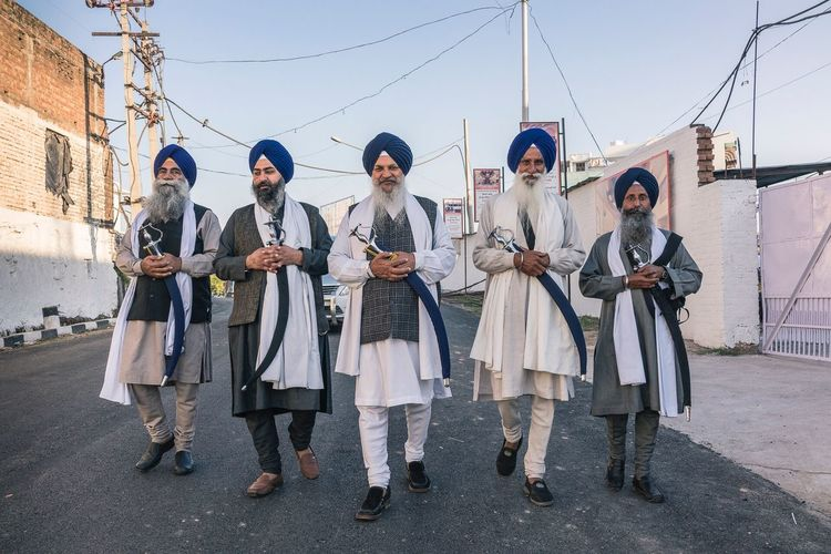 Proud Sikhs with kirpans attending the Hola Mohalla festival in Anandpur Sahib, India. Street Photography Real People Sikh Punjab India EyeEmNewHere