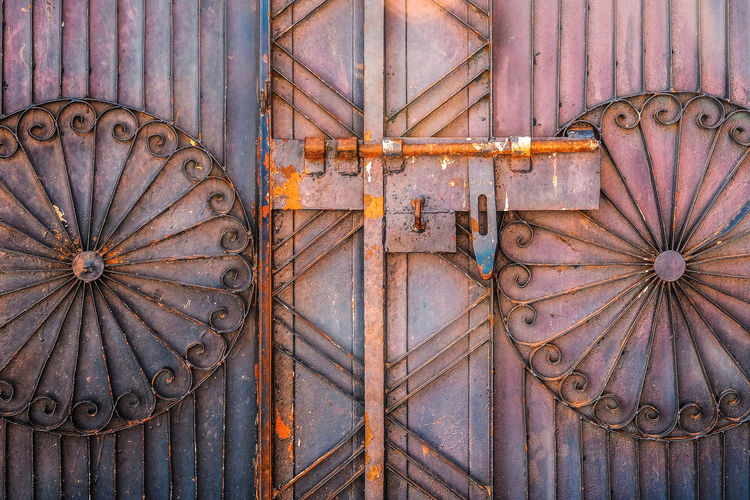 Metal Pattern No People Full Frame Design Entrance Day Closed Door Rusty Backgrounds Architecture Security Close-up Safety Protection Old Floral Pattern Ornate Bhoa Hassan, Punjab Pakistan Pakistan Still Life Travel