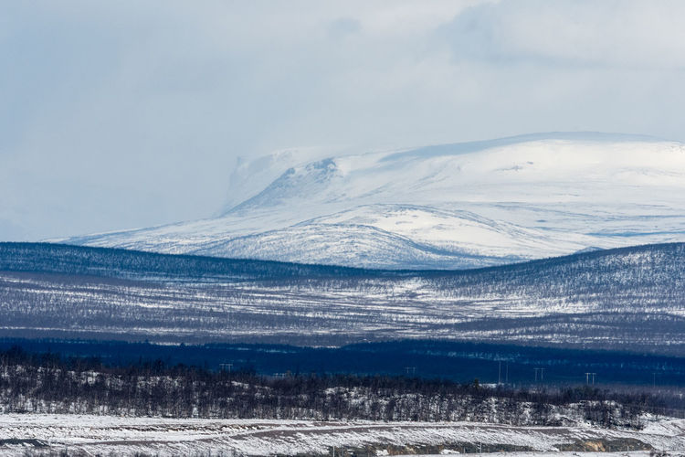 Kiruna mountain view 2 Beauty In Nature Cold Temperature Day Frozen Idyllic Kiruna Landscape Mountain Mountain Range Nature No People Outdoors Scenics Sky Snow Snowcapped Mountain Sweden Tranquil Scene Tranquility Weather Winter