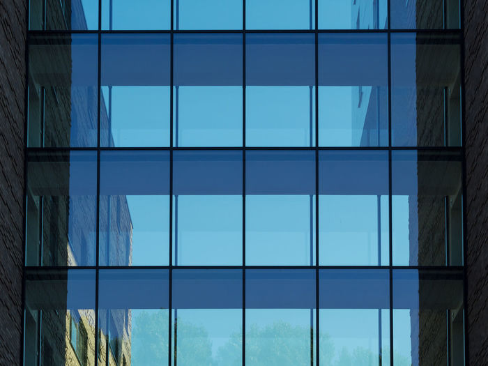 Berlin Architecture Blue Building Building Exterior Built Structure City Day Full Frame Glass - Material Low Angle View Modern Nature No People Office Office Building Exterior Outdoors Pattern Reflection Sky Turquoise Colored Window