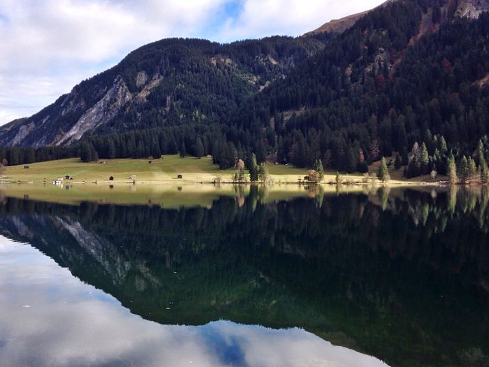 Reflection Nature Mountain Lake Water Beauty In Nature Sky Scenics Tranquil Scene Idyllic Tree Symmetry Outdoors Tranquility Landscape Mountain Range Waterfront No People Day Mirrored Austria Tannheimer Tal Vilsalpsee Forest EyeEm Nature Lover