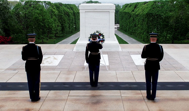Cemetery Morning Respect Salute Soldier Solemn United States Architecture Arlington Cemetery Army Soldier Building Exterior Built Structure Ceremony Day Discipline Full Length Men Military Outdoors Parade People Real People Rear View Standing Tree