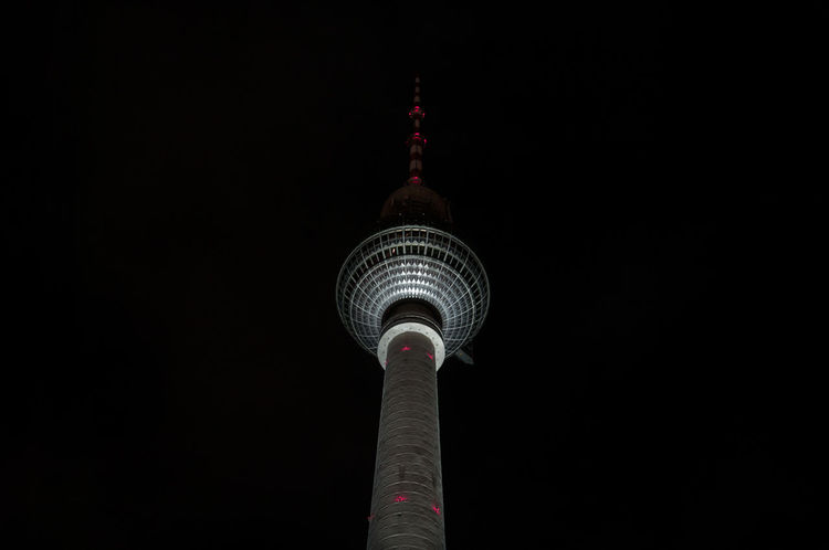 TV Tower at night. Architecture Night Travel Destinations Built Structure Tourism Night Travel City Outdoors Sky Illuminated