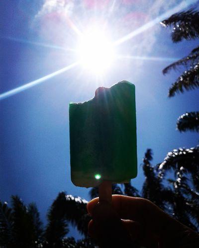 Sunny day with icecream..
