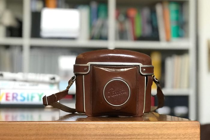 My grandfather's old Braun Paxette - loaded and ready to shoot its first roll since the sixties...