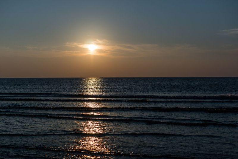 Sonnenuntergang auf Rømø Rømøstrand Rømø Denmark Sunset Sonnenuntergang Sea Water Sky Horizon Horizon Over Water Sunset Beauty In Nature Idyllic Nature Reflection Tranquil Scene Tranquility Scenics - Nature