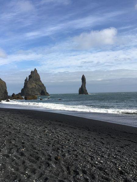 Coastline Horizon Over Water Beach Beauty In Nature Shore Vík í Mýrdal Pebble Beach Iceland