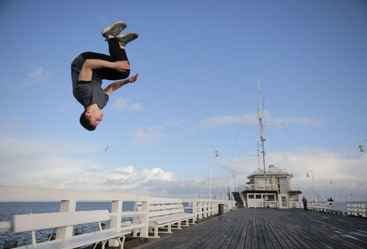 Courage Jump Jumping Jumpshot One Man Only Only Men Outdoors People Sopot, Poland EyeEm Selects