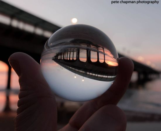 Sunrise Boscombe Pier  Little Crystal Ball