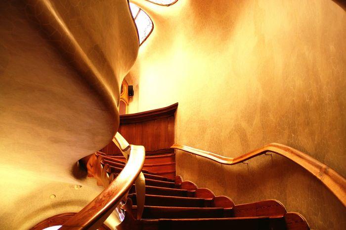 Stairways of greatness. Casa Batllo Gaudi Barcelona Stairs
