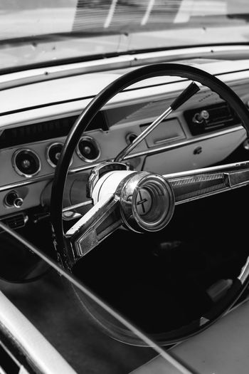 Car Car Interior Chrome Close-up Focus On Foreground Land Vehicle Mode Of Transport Motor Vehicle No People Old-fashioned Part Of Transportation Vehicle Hood