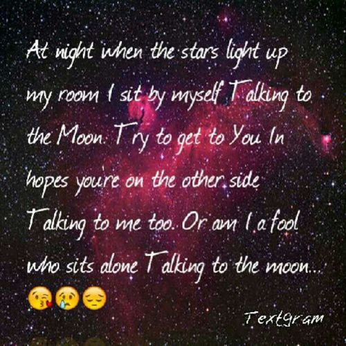 Talkintothemoon Brunomars Imissyou Stars night sky moon iloveyou comeback staysafe MilSO lonely talking hope pray love song mood sad
