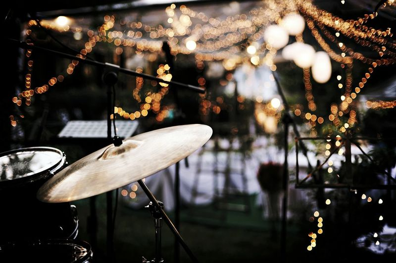 Night Lights Nightphotography Drums Wedding Party Band Party Music Bokeh 43 Golden Moments Music Brings Us Together Fresh On Market 2018