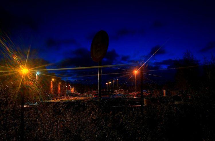 Night Factory Astronomy Space Star - Space Illuminated Galaxy Long Exposure City Sky Light Trail Light Beam