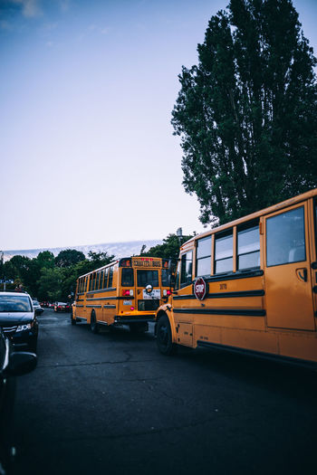Amazing View Open Edit OpenEdit WeekOnEyeEm Amazing Bus Canon Canon_official Canon_photos Canonphotography Clear Sky Day Land Vehicle Mode Of Transport Nature No People Open Outdoors Public Transportation Road School Bus Sky Stationary Transportation Tree Week On Eyeem Yellow