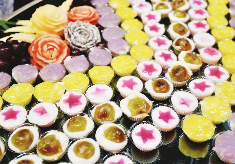 Sweets Thai Desserts Thaidessert Sweet Thaisweet Multi Colored Dessert Choice Close-up For Sale