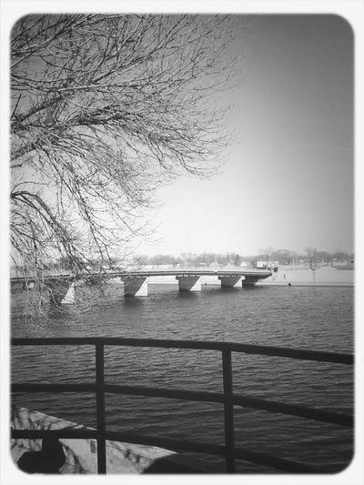 A view of Cedar River from Waterloo Landscape Relaxing Riverside
