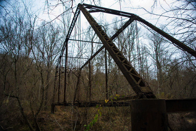 Abandoned bridge at the site of the former Georgia Nuclear Aircraft Laboratory, Dawson Forest, GA. Abandoned Bridge Built Structure Derelictplaces Ironwork  Low Angle View Metal Rustingaway