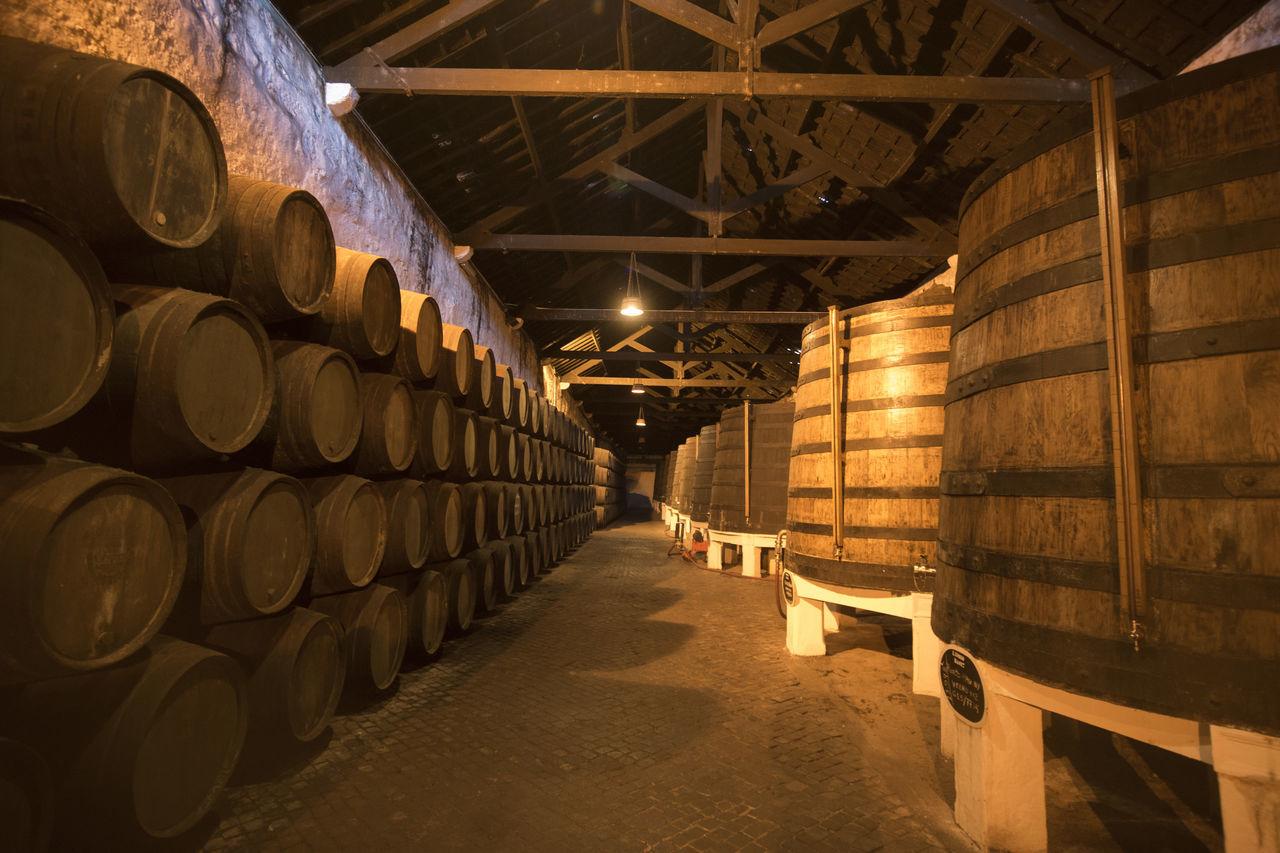 Barrels In Old Wine Cellar
