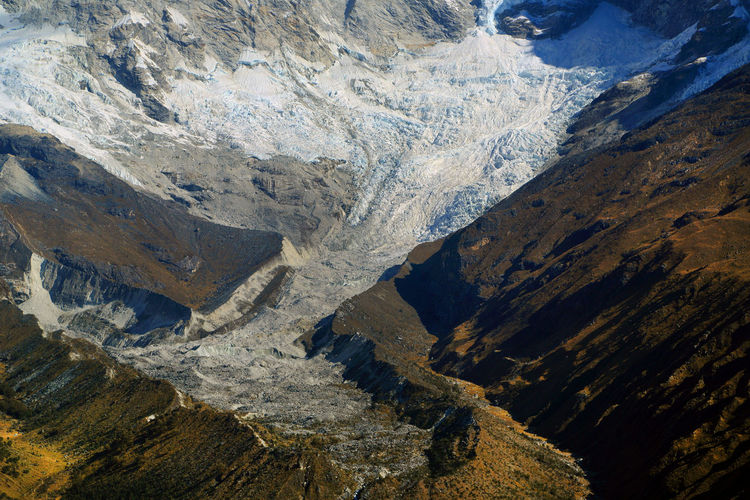 High Angle View Of Mountain Peaks