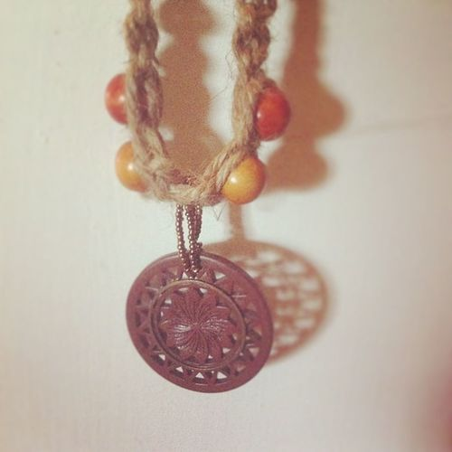 First necklace cranked out, wooden pendant too(: Such a comfy fit!! Hemp Self Made Newhemp creation art