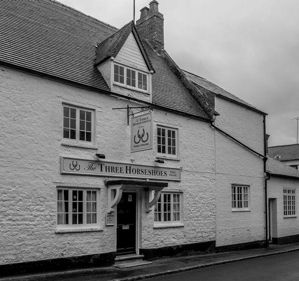The Three Horseshoes, High Street, Ecton, Northamptonshire Pubs Northampton Pubs Northamptonshire Architecture FUJIFILM X-T10 Black And White Monochrome Village Ecton