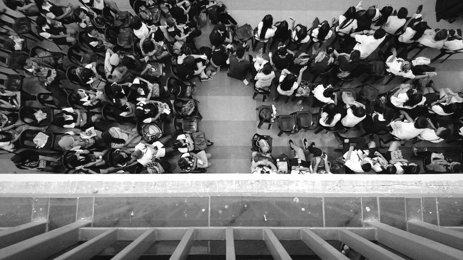 Xperiaphotography Xperia X XPERIA Week Of Eyeem Mobile Photography Eyeemphoto Eyeem Philippines Personal Perspective A Bird's Eye View High Angle View Highway Student Student Life Buttom Bnw Bnw_worldwide Bnw_collection Bnw_friday_eyeemchallenge Bnw Photography Monochrome Photography