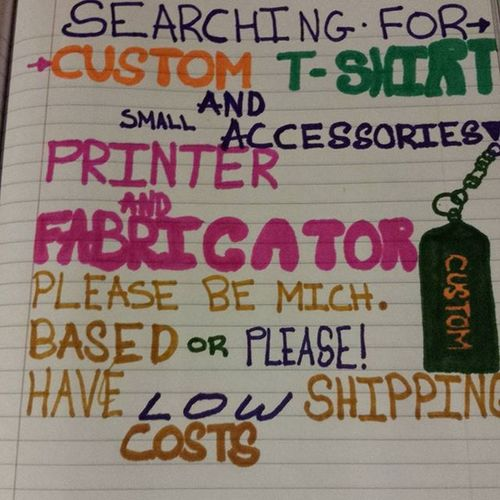 Looking to find reputable t shirt, hoodie and small accessory fabricator/printer. Accessories include but this list is not limited to lighters, keychain lighter holders, window and regular stickers, rubber wristbands with custom messages, and preferably things useful like bottle openers keychain knives etc. Looking for quality t shirts and nice selection of hoodie optons to include zip up or pull over as options. If you can help me directly, DM me for my contact information or just comment asking for it..if you can point me to a reputable person with these capabilities comment their @ instagram name or link me or DIRECT MESSAGE me. SERIOUS BUSINESS INQUIRIES ONLY. IM READY TO DO BUSINESS. Tshirtmaker Tshirtandaccessories Shirtprinter Tshirtprinter Customtshirtandhoodie Custom Logo Smallaccessories Smallaccessoryfabricator Putyourlogohere Customlogoworks Businessaccessories Localbusinessescomefirst Michigan Lowcostshipping Vision Also id rather build trust and a business relationship with whomever I pay I dont care if you have a fanccy shop if you can do the work and do it right I will treat you right and treat you like you are my only option. Realonesonly Nogamesplease