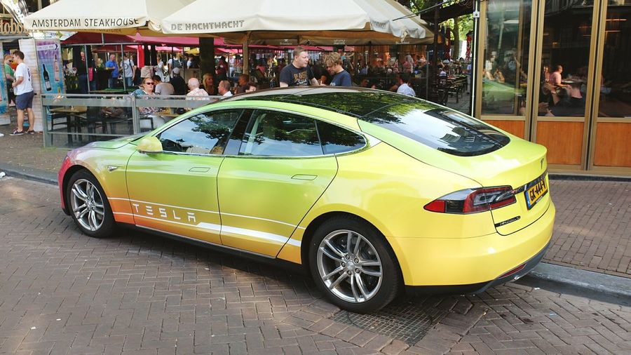 Tesla Model S, found in Amsterdam during the CSD
