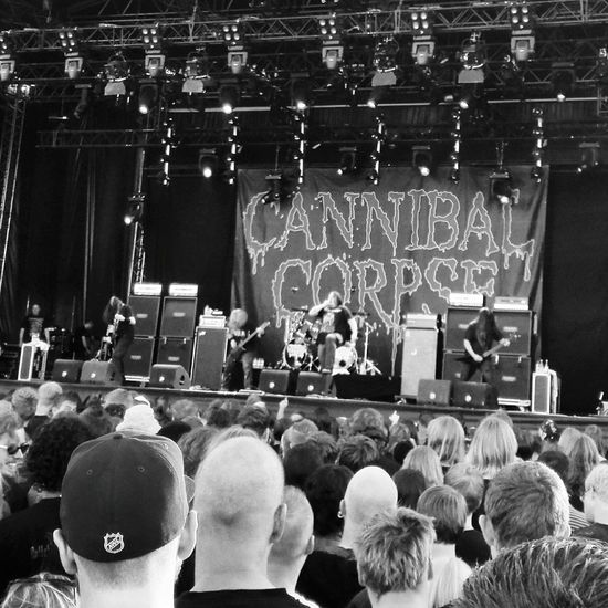 Taking Photos Cannibal Corpse Into The Grave The Fan Club Live Music Concert Metalhead