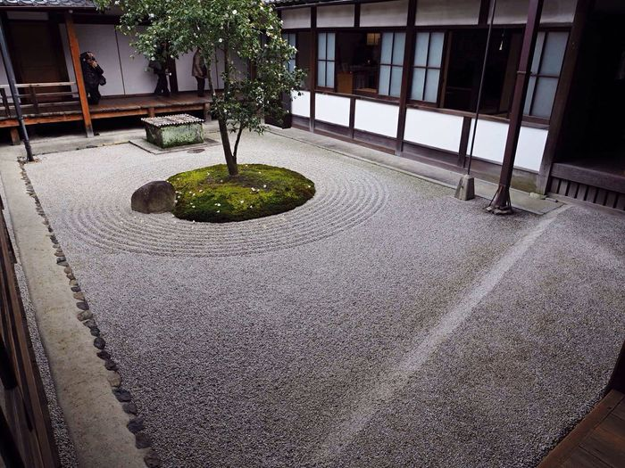 Kyoto Japan Higashiyama Kenninji Temple Temple ○△□garden Garden Olympus PEN-F 京都 日本 東山 建仁寺 寺 ○△□乃庭