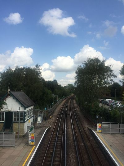 Best station ❤️ London lifestyle London Underground London Blue Sky Cloud - Sky Railroad Track Track Rail Transportation Transportation Nature Public Transportation