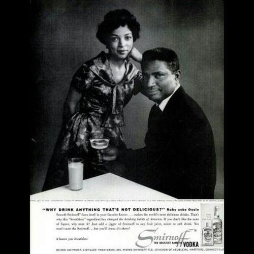 R.I.P. Rubydee TBT  Smirnoff with husband the late OSSIEDAVIS