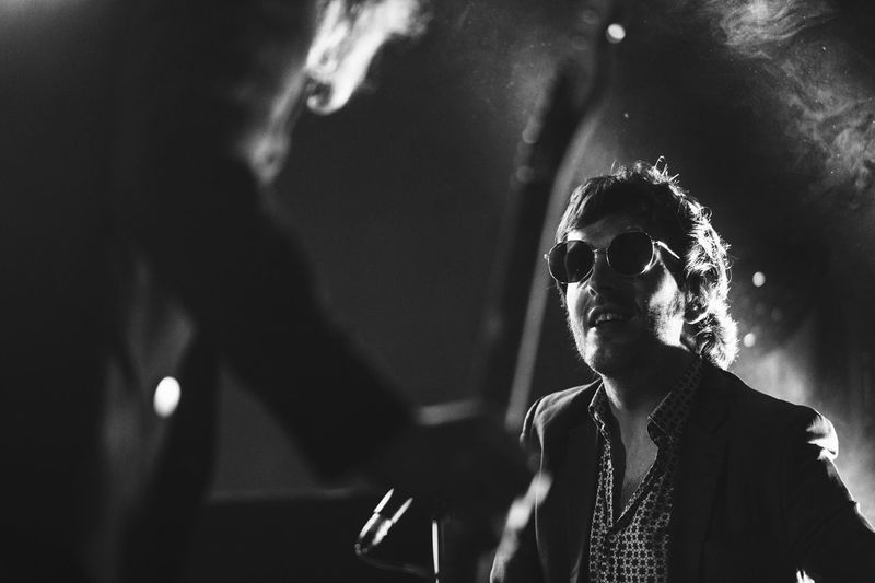 Black & White Black And White Blackandwhite Live Music Concert Men One Person Sunglasses Night Real People Arts Culture And Entertainment Glasses Music Musician Stage Singer  Nightlife Lifestyles Event Performance