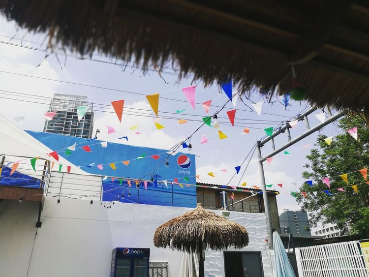 Surf Surboard Poolbar Pool Poolside Hanging Multi Colored Outdoors No People Day Sky