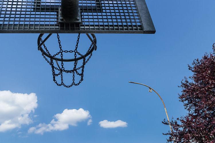 Basketball Field, The Moment - 2014 EyeEm Awards Art Blue Sky Geometric Shapes Basketball